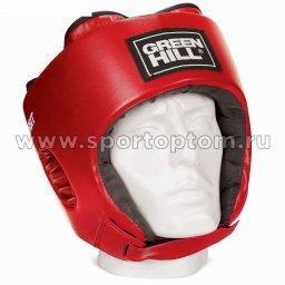 Шлем боксёрский Green Hill ORBIT и/к детский  HGO-4030 Красный