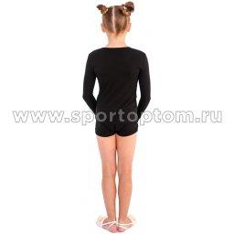 Футболка с длинным  рукавом SM-221 Черный (2)