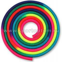 Скакалка для художественной гимнастики утяжеленная семицветная  INDIGO 165 г IN038 Радуга