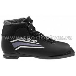 Ботинки лыжные 75 TREK SkiingIK1 синтетика TR-253 Черный (лого серебро)