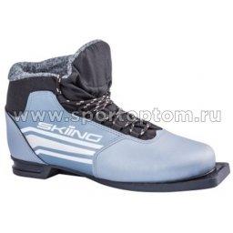 Ботинки лыжные 75 TREK SkiingIK2 синтетика TR-260 Металлик (лого серебро)