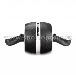 Ролик гимнастический 1 колесо INDIGO возвратный механизм Черно-серый IN 280 (2)