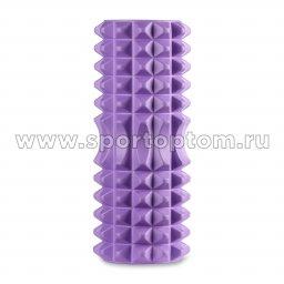 Ролик массажный для йоги INDIGO PVC IN267 фиолетовый (2)