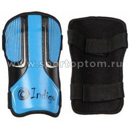 Щитки футбольные INDIGO с ламинированным покрытием  400004 M Голубо-черный