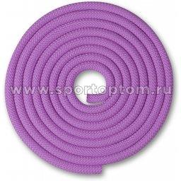 Скакалка для художественной гимнастики Утяжеленная 150 г INDIGO SM-121 2,5 м Сиреневый