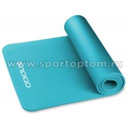 Коврик для йоги и фитнеса INDIGO NBR IN229 173*61*1,2 см Бирюзовый