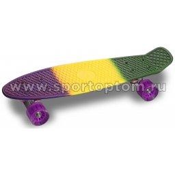 Круизер INDIGO LS-P2206B  56,5*15 см Мультицвет Фиолетово-Желтый-Зеленый