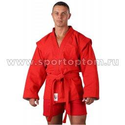 Куртка для Самбо хлопок 100%, 530-580 г/м2 RA-005 Красный
