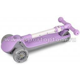 IN244 Самокат детский INDIGO FAST трехколесный до 50 кг Фиолетовый (3)