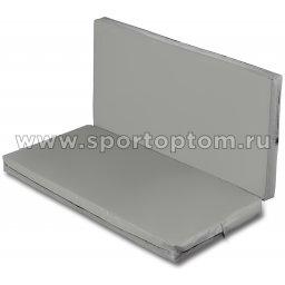 Мат гимнастический складной SM-108  Серый металлик