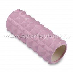 Ролик массажный для йоги INDIGO PVC IN279 розовый