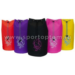 Рюкзак для художественной гимнастики универсальный вензель GPS00051 40*22*22 см Розовый