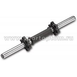 Гриф гантельный 25 мм INDIGO  IN127 450 мм Черный