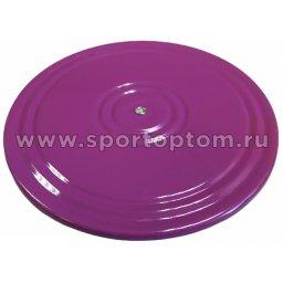 """Диск """"Здоровье"""" 2-х цветный металл AN-05                     28 см Фиолетово-зеленый"""