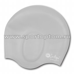Шапочка для плавания силиконовая INDIGO анатомическя форма 401 SC Серый
