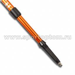 Палки для скандинавской  ходьбы телескопические INDIGO SL-1-2 Оранжевый пластмассовые ручки (3)