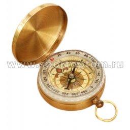 Компас латунный жидкостной G50 5 см Золотистый