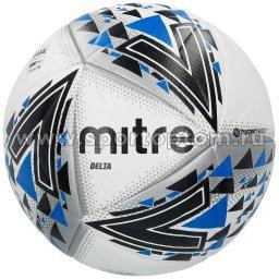 Мяч футбольный №5  MITRE DELTA FIFA PRO HYPERSEAM матчевый (термопластичн.PU) BB1114WKL Бело-черный-синий