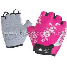 Перчатки вело детские Цветы INDIGO  SB-01-8821 Розовый