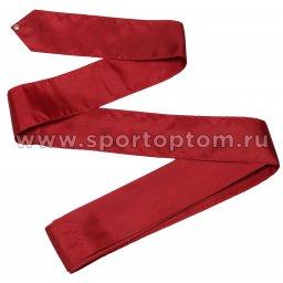 Лента гимнастическая без палочки СЕ2 4,0 м Бордовый