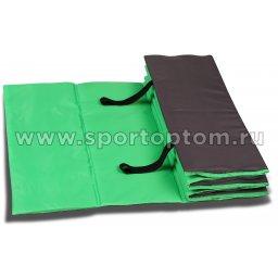 Коврик гимнастический взрослый INDIGO SM-042 180*60 см Салатово-серый