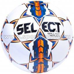 Мяч футбольный №5 SELECT BRILLANT REPLICA 2015 тренировочный (PU армир.) 811608 Бело-сине-оранжевый