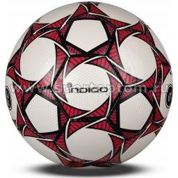 Мяч футбольный №5 INDIGO COACHER c 3D фактурой тренировочный  (PU 1.2 мм ) 1911 Бело-красный