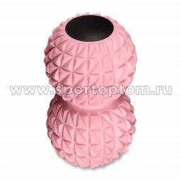 Мячик массажный двойной для йоги IN269 Розовый (2)
