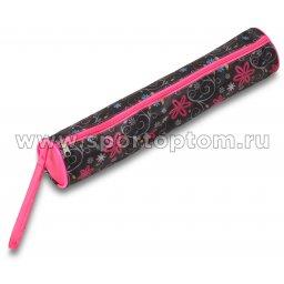 Чехол для булав гимнастических (тубус) INDIGO SM-128 46*8 см Цветы