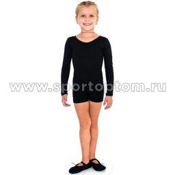 Комбинезон гимнастический  длинный рукав  INDIGO SM-193 Черный (1)