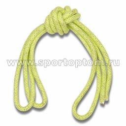 Скакалка гимнастическая (веревочная) Утяжеленная INDIGO ЛЮРЕКС (2)