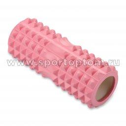 Ролик массажный для йоги INDIGO PVC IN267 33*14 см Розовый