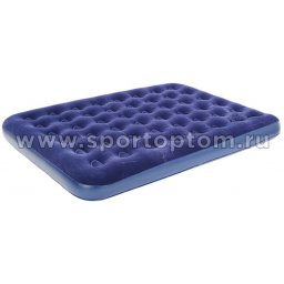 Кровать BW флокированная надувная 2-х местная 67003 203*152*22 см Синий