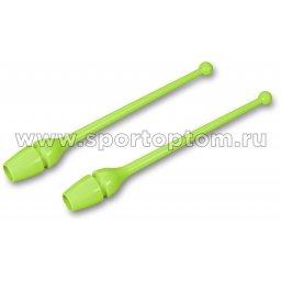Булавы для художественной гимнастики INDIGO (термопластик) SM-352 36 см Салатовый