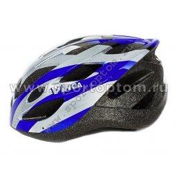 Вело Шлем взрослый, 19 вент. отверстий VSH 23 56-59 Черно-сине-белый