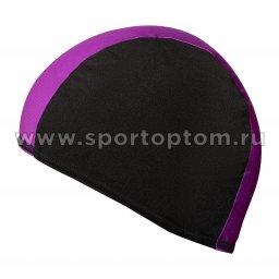 Шапочка для плавания  ткань LUCRA SM комбинированная SM-089  Черно-фиолетовый