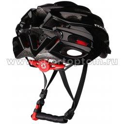 Вело Шлем взрослый INDIGO, 22 вент. отверстий IN070 Черный (2)