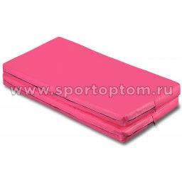 Мат гимнастический складной SM SM-108 1*1*0.08 м  Розовый