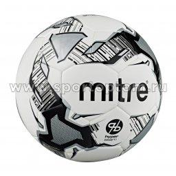 Мяч футбольный №3  MITRE CALCIO HYPERSEAM тренировочный (термопластичный PU) BB1102WBV Бело-черный