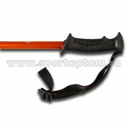 Палки для скандинавской  ходьбы телескопические INDIGO 001 IRAK Оранжево-черный пластмассовые ручки (2)