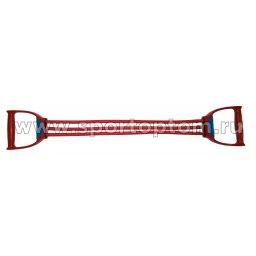Эспандер плечевой LATEX INDIGO MEDIUM (15-24 кг) 3 жгута SM-073 70 см Красный