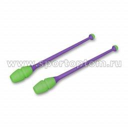 Булавы для художественной гимнастики вставляющиеся INDIGO Фиолетово-салатовый (3)