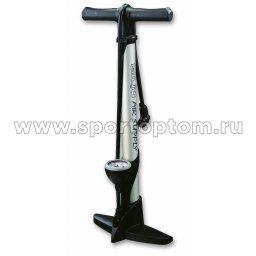 Насос вело GIYO стальной, ножной с манометром 35Р -GF                   56 см Черный