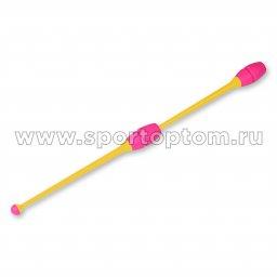 Булавы для художественной гимнастики вставляющиеся INDIGO Желто-розовый (2)