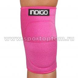 Суппорт колена неопреновый INDIGO   IN210 M Розовый
