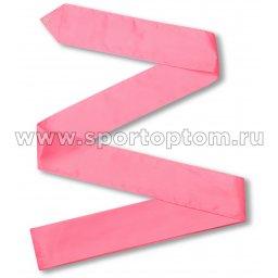 Лента гимнастическая без палочки СЕ1 6,0 м Розовый