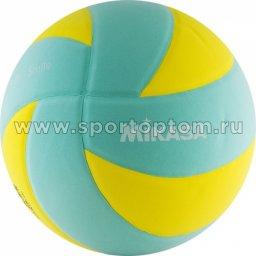 Мяч волейбольный MIKASA любительский клееный SKV5-YLG Желто-голубой