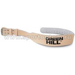 Пояс тяжелоатлетический Green Hill 15 см кожа WLB-6426 Коричневый