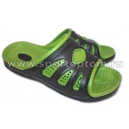 Шлепанцы мужские Комби Лайн  AS003 Черно-зеленый