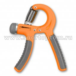 Эспандер кистевой пружинный регулируемый INDIGO LIGHT 05-20 кг IN095 Оранжевый